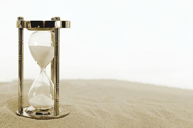 písek v hodinách