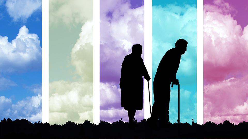 silueta seniorů